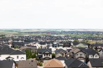 Suburban Sprawl in Calgary Alberta