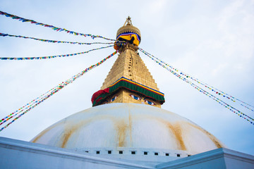 The Wisdom eyes on Boudhanath stupa