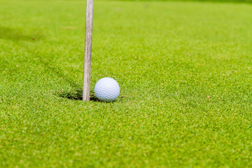 Golf balls on the golf course, popular sports from around the world
