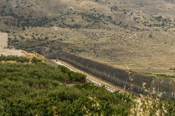 The Israel Syria border