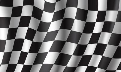 Racing flag 3d background for race sport design