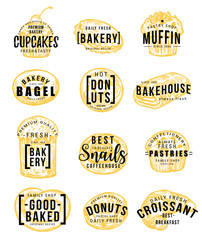 Pastry and bakery shop sketch with hand lettering
