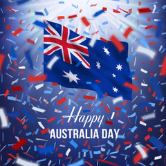 Happy Australia Day greeting card.