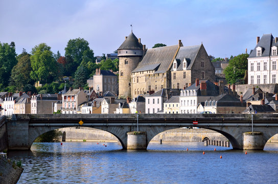 Laval town in France