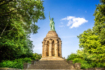 Tuinposter Historisch mon. The Hermannsdenkmal in Germany