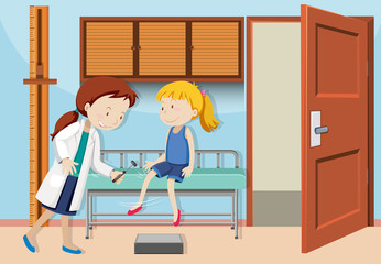 A Girl Check up with Doctor