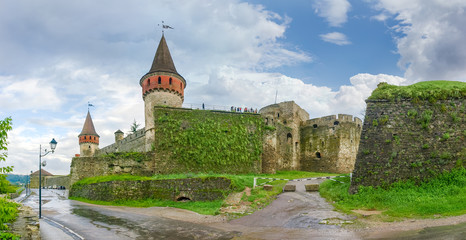 North and west sides of the Kamianets-Podilskyi fortress, Ukraine