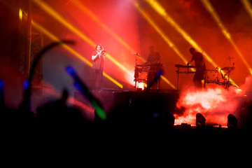 Odesza perform as the last act on the fourth and final day of the Firefly Music Festival in Dover, Delaware U.S.