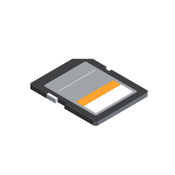 Memory Card 3D isometric