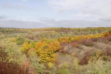 Natural autumn landscape, background