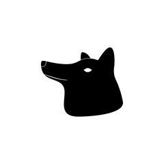 head of wolf silhouette icon. Element of animal silhouette for mobile concept and web apps. Detailed wolf icon can be used for web and mobile. Premium icon