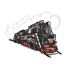 Retro train, sketch for your design