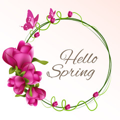 nice and beautiful abstract or poster for Spring with nice and creative design illustration.