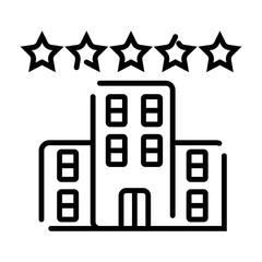 Hotel 5 star icon vector