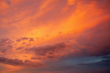 Colorful dramatic sky texture