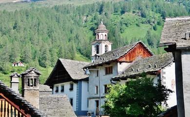 Bosco Gurin, Bergdorf, Tessin