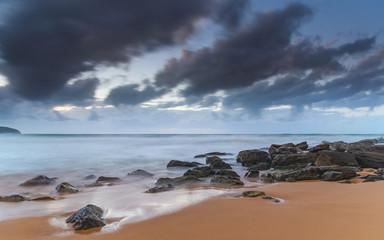 A Rocky Dawn at the Beach