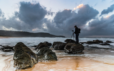 Photographer Capturing the Seascape