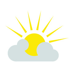 cloudy  weather  forecast  icon vector