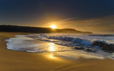 Golden Sun Rays Seascape