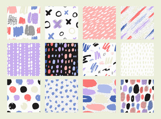 Printed roller blinds Pattern Vector Illustration. Pastel hand drawn texture.