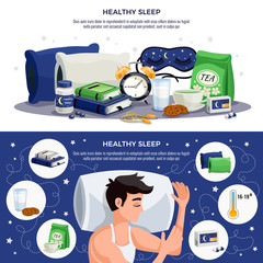 Healthy Sleep Horizontal Banners