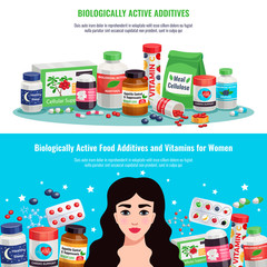 Biologically Active Additives Banners