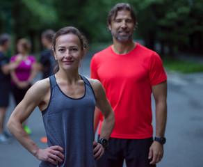 portrait of a healthy jogging couple