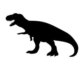 Silhouette Tyrannosaurus dinosaur jurassic prehistoric animal