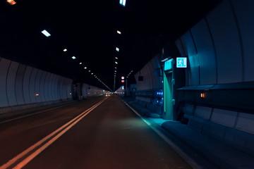 Deurstickers Tunnel Mont Blanc Tunnel