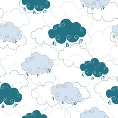 Clouds on white background