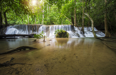 Waterfall nature in the forest.Thailand.