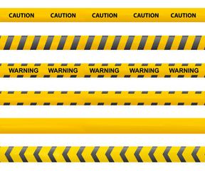 Tape caution. Police line. Warning tape vector. Accident