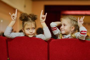 children in cinema