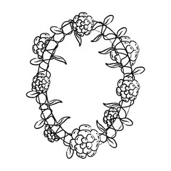 grunge oval flowers plants leaves style