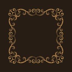 Vintage ornate filigree frame. Decorative ornamental page decoration, borders, calligraphic design elements for invitation, congratulation, greeting card, menu, certificate. Vector.