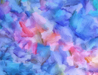 Abstract art background. Soft brushstrokes of paint. Good for printed pictures, postcards, posters or wallpapers and textile printing. Contemporary art. Hand drawn artistic pattern for graphic design.