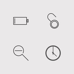Web outline vector icons set
