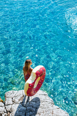 A Woman Enjoying Summer Vacation