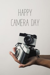 film camera and text world photography day