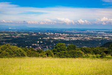 Vue sur Lyon et environs depuis le Mont Cindre à Saint-Cyr-au-Mont-d'or