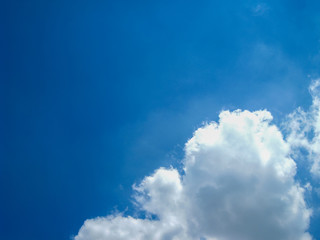 blue sky and cloud in the windy day.