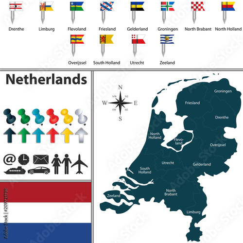 Map of Netherlands\