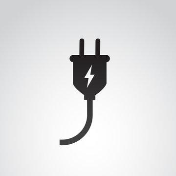 Plug in vector icon.