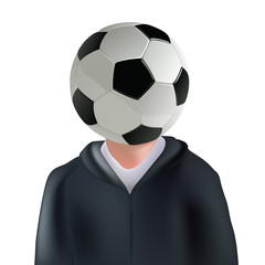 foot - football - supporter - ballon - concept - symbole - personnage - humour - humoristique