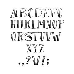 Halloween handmade Lettering font