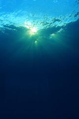 Sunburst in ocean