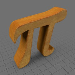 Wooden Pi symbol