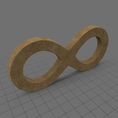Wooden infinity sign