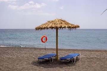 Sonnenschirm am Stand